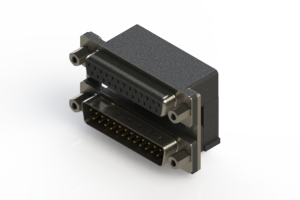 664-025-664-006 - Right-angle Dual Port D-Sub Connector
