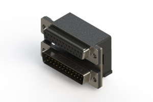 664-025-664-007 - Right-angle Dual Port D-Sub Connector