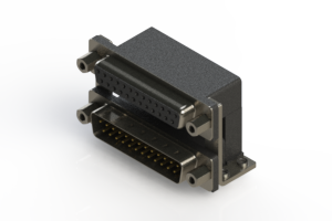 664-025-664-056 - Right-angle Dual Port D-Sub Connector