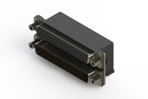 664-037-264-003 - Right-angle Dual Port D-Sub Connector