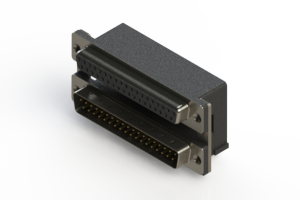 664-037-264-005 - Right-angle Dual Port D-Sub Connector
