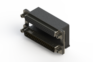 664-037-264-009 - Right-angle Dual Port D-Sub Connector