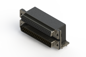 664-037-264-032 - Right-angle Dual Port D-Sub Connector