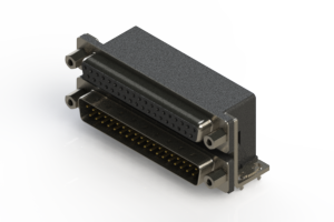664-037-264-033 - Right-angle Dual Port D-Sub Connector
