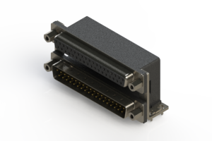 664-037-264-036 - Right-angle Dual Port D-Sub Connector