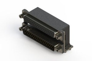 664-037-264-046 - Right-angle Dual Port D-Sub Connector