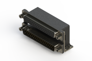 664-037-264-056 - Right-angle Dual Port D-Sub Connector