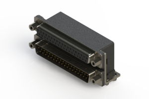 664-037-364-043 - Right-angle Dual Port D-Sub Connector