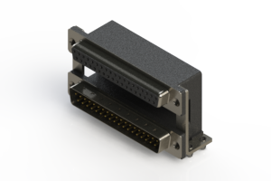 664-037-364-048 - Right-angle Dual Port D-Sub Connector