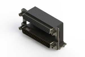 664-037-364-049 - Right-angle Dual Port D-Sub Connector
