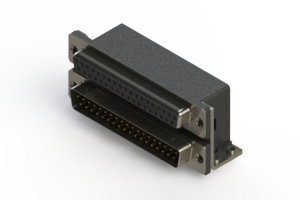 664-037-364-051 - Right-angle Dual Port D-Sub Connector