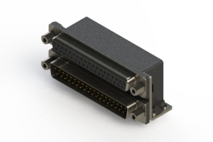 664-037-364-053 - Right-angle Dual Port D-Sub Connector