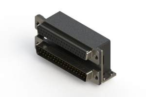 664-037-364-055 - Right-angle Dual Port D-Sub Connector