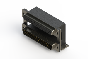 664-037-364-058 - Right-angle Dual Port D-Sub Connector