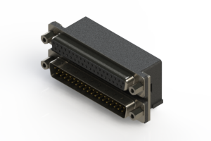 664-037-664-003 - Right-angle Dual Port D-Sub Connector