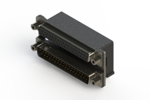 664-037-664-006 - Right-angle Dual Port D-Sub Connector