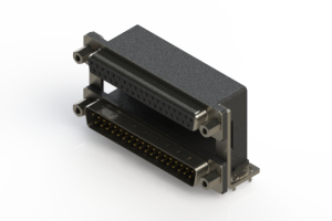664-037-664-039 - Right-angle Dual Port D-Sub Connector