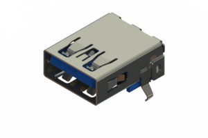 690B109-623-222 - USB 3.0 Type-A connector with tab up polarization