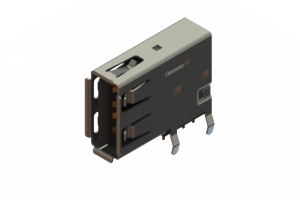 690C104-134-021 - USB Type-A connector with tab left polarization