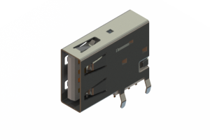 690C104-134-220 - USB Type-A connector with tab left polarization