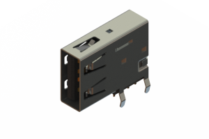 690C104-134-221 - USB Type-A connector with tab left polarization