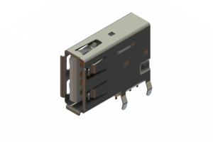 690C104-234-020 - USB Type-A connector with tab left polarization