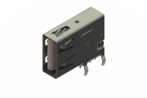690C104-234-220 - USB Type-A connector with tab left polarization