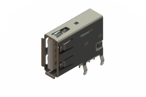 690C104-334-020 - USB Type-A connector with tab left polarization