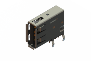 690C104-334-021 - USB Type-A connector with tab left polarization
