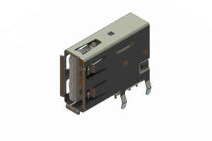 690C104-534-020 - USB Type-A connector with tab left polarization