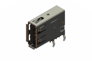 690C104-534-021 - USB Type-A connector with tab left polarization