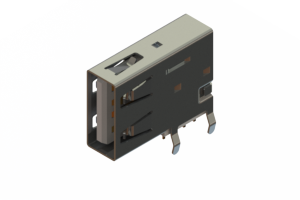 690C104-634-220 - USB Type-A connector with tab left polarization