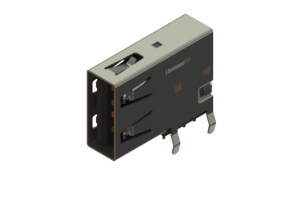 690C104-634-221 - USB Type-A connector with tab left polarization