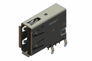 690C304-234-021 - USB Type-A connector with tab left polarization