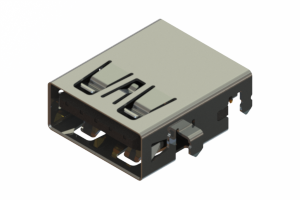 690H109-652-211 - Mid-mount USB 3.0 Type-A connector with tab down polarization