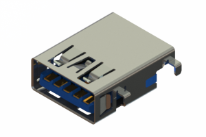 690H509-252-252 - Mid-mount USB 3.0 Type-A connector with tab down polarization
