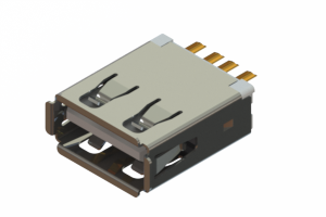690L104-19D-020 - USB Type-A cable end connector