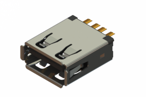 690L104-19D-021 - USB Type-A cable end connector