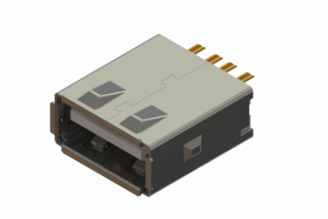 690L104J19D-020 - USB Type-A cable end connector