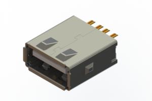 690L104J29D-020 - USB Type-A cable end connector