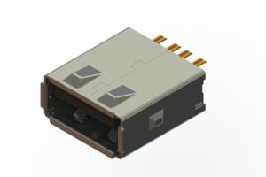 690L104J29D-021 - USB Type-A cable end connector