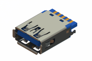 690M109-1AD-022 - USB 3.0 Type-A cable end connector