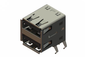 690N208-124-021 - Dual Stack USB Type-A connector