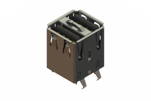 690N208-244-021 - Dual Stack USB Type-A connector