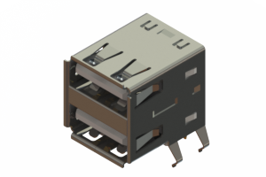 690N208-324-020 - Dual Stack USB Type-A connector