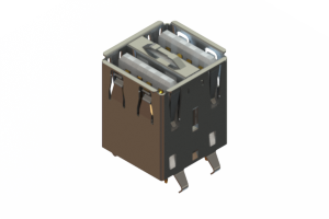 690N208-344-020 - Dual Stack USB Type-A connector
