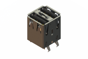 690N208-344-021 - Dual Stack USB Type-A connector