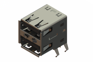 690N208P124-021 - Dual Stack USB Type-A connector
