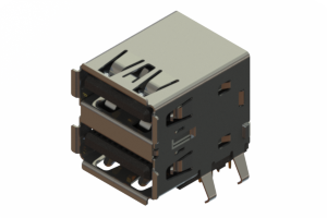 690N218-124-021 - Dual Stack USB Type-A connector