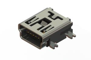 690T205-16B-211 - USB Type-B Mini connector